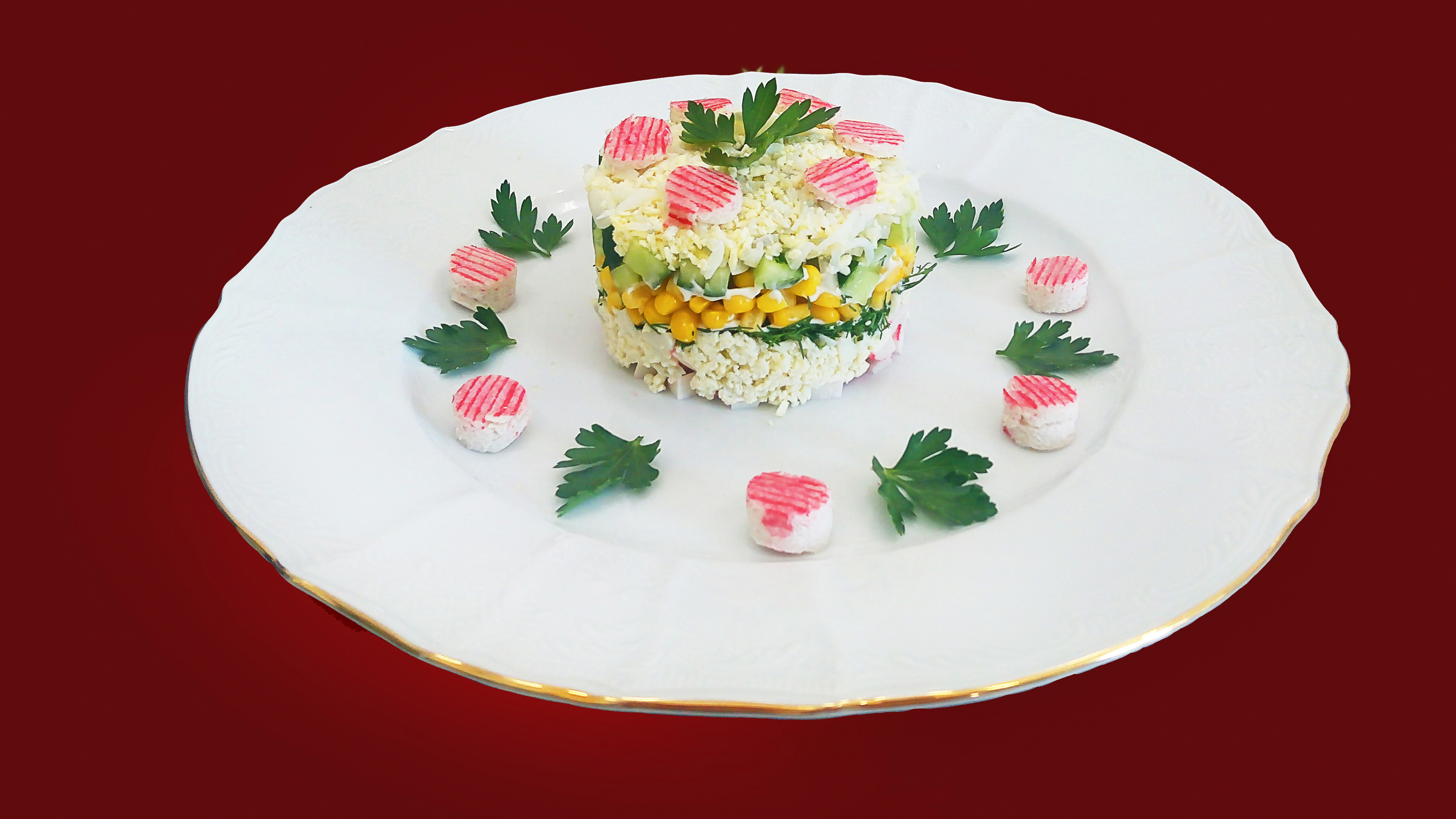 рецепт салат кукуруза рис крабовые палочки кукуруза